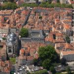 Cahors - le vieux centre vu du ciel